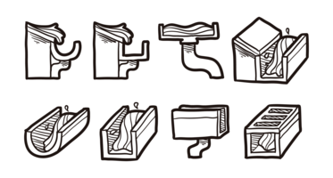 Vecteur d'icônes de gouttière