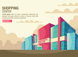 Shopping Center Vector Illustration