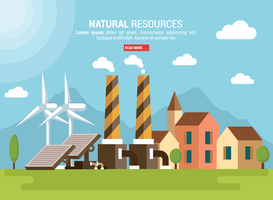 Natural Resources Vector Illustration