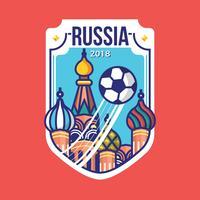 Ryssland Kreml Palace Badge Vector
