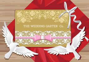 Vector de acessórios nupciais de conceito de casamento