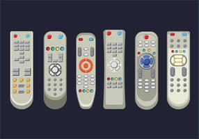 TV Remote Control in White Design vector