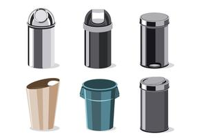 Illustration of Waste Basket Collection  vector