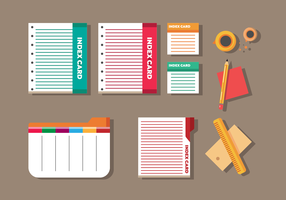 Index Card Vector