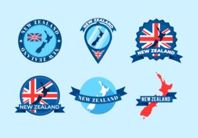 Insignias del mapa de Nueva Zelanda