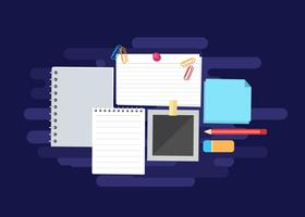Paper, Index Card and Stationary Vector Illustration