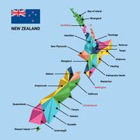 Polygonal New Zealand Map Vector Illustration