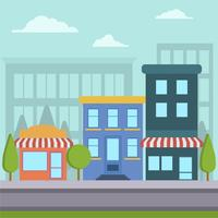 Flat Shopping Center Vector