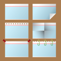 Index Cards Vector