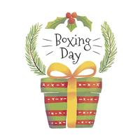 Caixa de presente bonito para o dia do boxe
