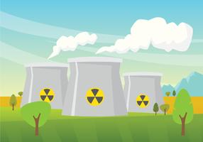 Nuclear Reactor Illustration vector