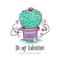 Lindo, cactus, con, sobre, con, elementos