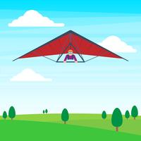 Man On A Hang Glider Illustration