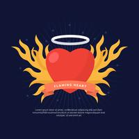 Free Flaming Heart Concept Vector