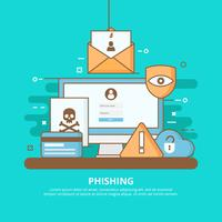 Internet Phishing, Scams und Sicherheitskonzept Illustration