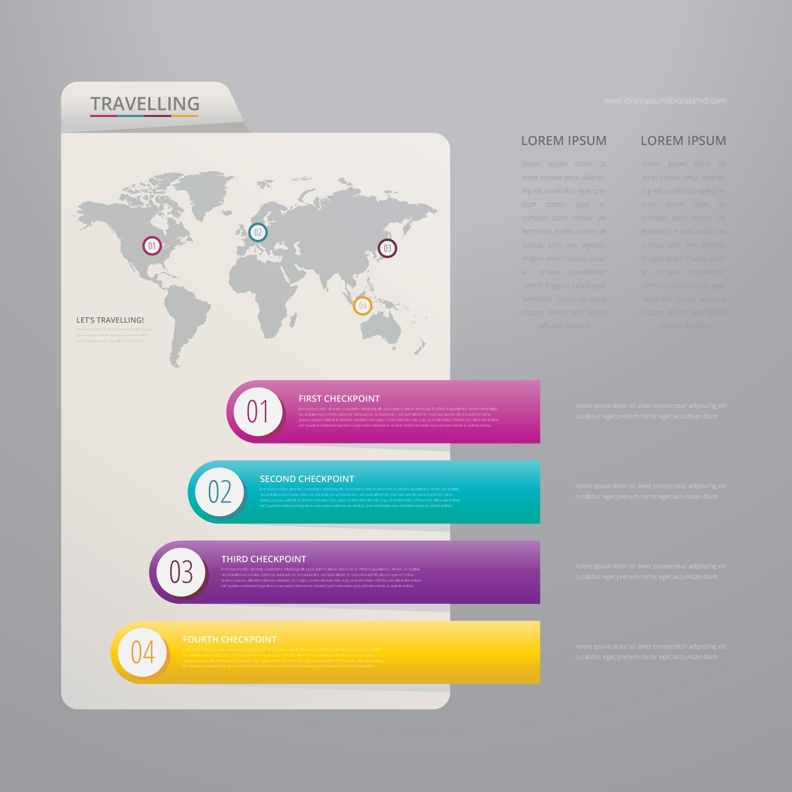 Vector de papel de índice infografía con la plantilla de fondo ...