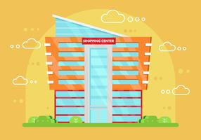 Free Shopping Center Vector Illustration