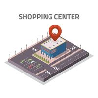 Shopping Center Isometric Store Vector