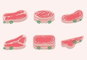 Slice of Veal Vector set