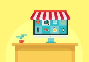 Vecteur de magasinage en ligne