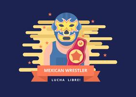 Free Mexican Wrestler Vector Illustration
