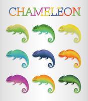 Freier Chamäleon-Vektor