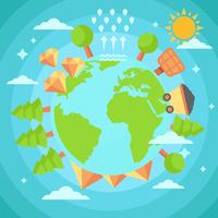 Free Earth With Natural Resources Vector