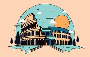 Amphitheater Illustration Vector