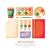 Vector Hand Drawn Art Supplies