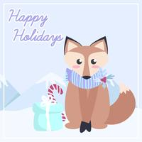 Vector Cute Fox Illustration
