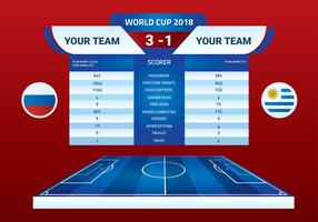 World Cup 2018 Halftime Banner Free Vector