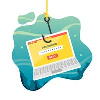 Kostenlose Phishing-Vektor-Illustration