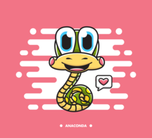 Free Cartoon Anaconda Vector