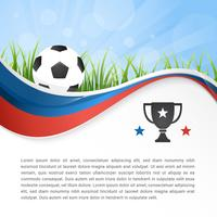 WM-Fußball 2018 in wellenförmigem abstraktem Vektor-Hintergrund Russlands