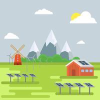 Platte natuurlijke hulpbronnen Vector