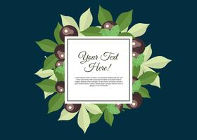 Free Buckeye Leaves Frame Illustration