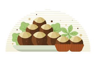 chocolate de dobragem plano