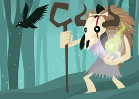 Shaman Cartoon Illustration
