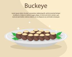 Buckeye Platter Illustration
