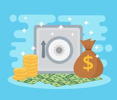 Sample Money Vector Blue Background