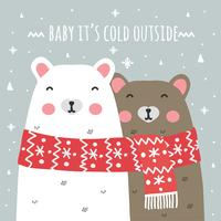 Baby It's Cold Outside Background vector