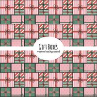 Sfondo vettoriale scatole regalo