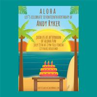 Vetor de aniversario polinésio