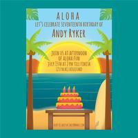 Polynesischer Geburtstag Vektor