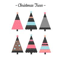 Abstract Christmas Trees Vector