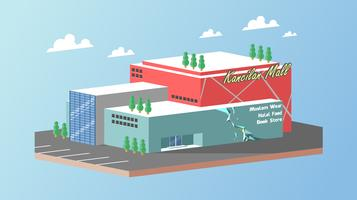Isometric Mall Center Free Vector