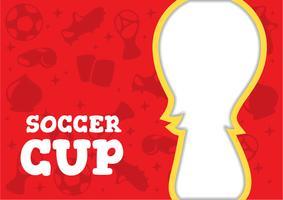 Molde de fundo da Copa do Mundo