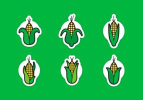 El maíz acecha el paquete de vectores gratis