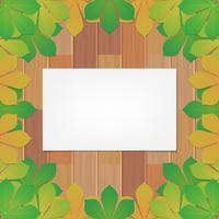 Höstlig Leaf Of Chestnut Bakgrund