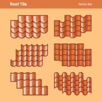 Roof Tile Vector Set